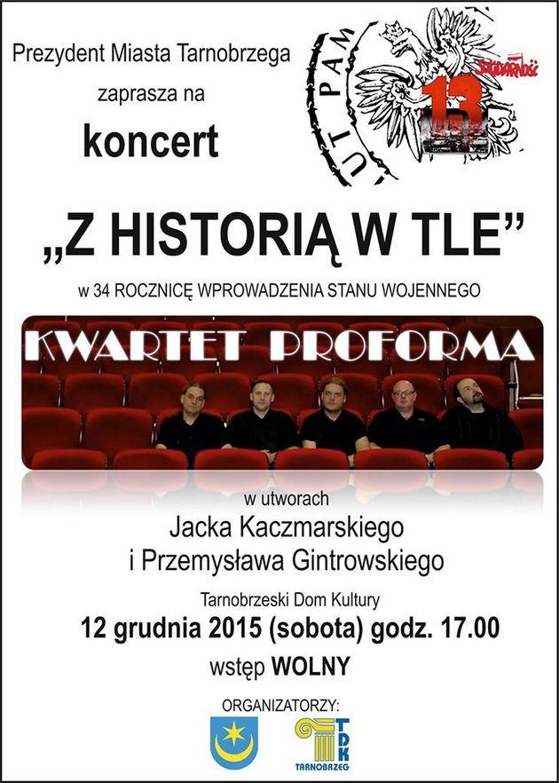 1212 Sobota Koncert Kwartetu Proforma W 34 Rocznicę